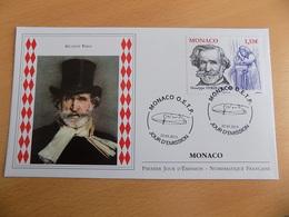 FDC MONACO 2013 : Guiseppe VERDI (timbre De 1.55 Euro) - FDC