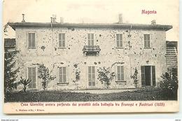 Magenta - Casa Giacobbe Ancora Perforata Dai Proiettili Della Battaglia Tra Francesi E Austriaci (1859) - Italy