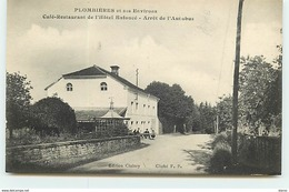 PLOMBIERES Et Ses Environs - Café-Restaurant De L'Hôtel Enfoncé - Arrêt De L'Autobus - Plombieres Les Bains