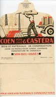 ALGERIE PLI COMMERCIAL COEN & CASTERA A SIDI-BEL-ABBES 1928 BOIS CONSTRUCTION ATTESTATION DE FOURNITURES DE MATERIAUX - France