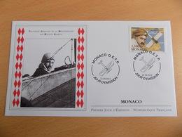 FDC MONACO 2013 : Traversée Aérienne De La Méditerranée Par Roland Garros (timbre De 1.35 Euro) - FDC