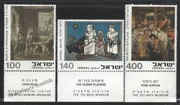 Israel 1975 Yv. 577-79, Art, Paintings – Tab - MNH - Israel