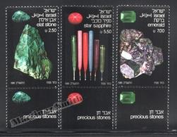 Israel 1981 Yv. 810-12, Minerals, Precious Stones – Tab - MNH - Ungebraucht (mit Tabs)