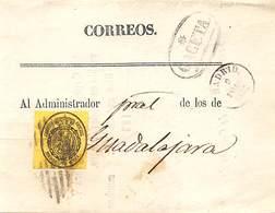 1876.- ED. Nº 35. RECIBO DE LA GACETA .FECHADOR ENSAYO DE MADRID 89 ENERO). MATASELLO ROMBO DE BARRAS - Usados