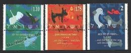 Israel 1996 Yv. 1346-48, Coesixtence Human & Animals – Tab - MNH - Israel