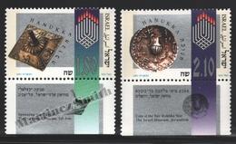 Israel 1997 Yv. 1379-80, Hanukkah, Light Festival – Tab - MNH - Israel