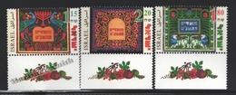 Israel 1998 Yv. 1421-23, Festivity Stamps – Tab - MNH - Israel