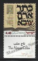 Israel 2000  Yv. 1506, The Alep Codex – Tab - MNH - Israel