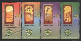 Israel 2001  Yv. 1563-66, Bezalel Ceramics – Tab - MNH - Israel