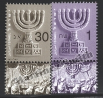 Israel 2002  Yv. 1638-39, Definitive – Tab - MNH - Israel