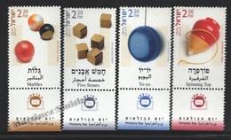 Israel 2002  Yv. 1634-37, Philatelic Day, Childrens Toy – Tab - MNH - Israel