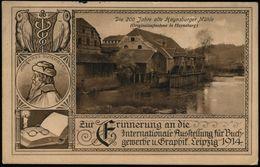 LEIPZIG/ WELT-AUSSTELLUNG/ Für BUCHGEWERBE/ U./ GRAPHIK 1914 (2.9.) BdMWSt = Nackter Knabe Mit Fackel Auf Vogel Greif (= - Andere