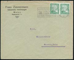 MAINZ/ *3II/ AUSSTELLUNG DAS DEUTSCHE/ SCHÖNE BUCH IM/ GUTENBERGMUSEUM.. 1925 (10.9.) Seltener MWSt (Wappen, Buch) Klar  - Andere