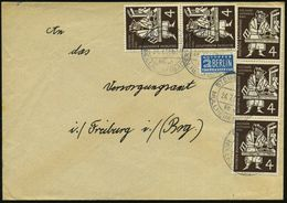 """B.R.D. 1954 (24.7.) 4 Pf. Gutenberg """"500 Jahre Bibel-Druck"""", Reine MeF: 5 Stück In Einheiten Klar Gest. (STEINENSTADT/ ü - Andere"""