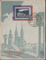 JUGOSLAWIEN 1940 (29.9.) Goldener SSt: ZAGREB/..1440 1940/GUTENBERG Auf EF 5,50 Din. Gutenberg-Jubiläum (schwache Bugspu - Andere