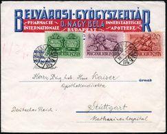 UNGARN 1939 (27.10.) Protestanten-Tagung Budapest, Kurzsatz 6 F., 10 F. Bibeldruck U. 20 F. , Klar Gest. Ausl.-Reklame-B - Andere