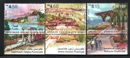 Israel 2008  Yv. 1921-23, Promenades Of Israel – Tab - MNH - Israël