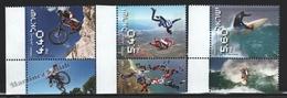 Israel 2009  Yv. 1950-52, Extreme Sports, BTT, Parachuting & Surf – Tab - MNH - Israel