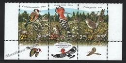 Israel 2010  Yv. 2013-15, Fauna, Birds Of Israel – Tab - MNH - Nuevos (con Tab)
