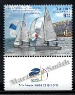 Israel 2010  Yv. 2029, 420 Sailing World Championship – Tab - MNH - Nuevos (con Tab)