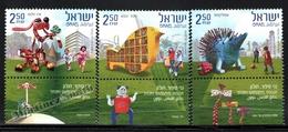 Israel 2010  Yv. 2036-38, Holon, Story Gardens – Tab - MNH - Nuevos (con Tab)