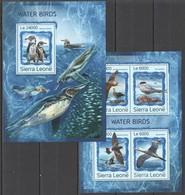 ST319 2016 SIERRA LEONE FAUNA MARINE LIFE WATER BIRDS KB+BL MNH - Oiseaux