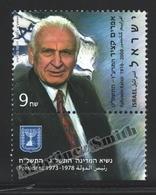 Israel 2011  Yv. 2113, Ephraim Katzir, President 1973-78 – Tab - MNH - Israel
