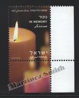 Israel 2012  Yv. 2173, Definitive, In Memory – Tab - MNH - Israel