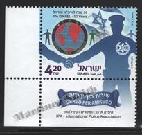Israel 2012  Yv. 2209, 50th IPA Anniversary, International Police Association – Tab - MNH - Israel