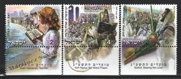 Israel 2012  Yv. 2217-19, Festivities Of Israel – Tab - MNH - Israel