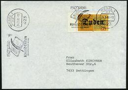 423 WESEL 1/ Md/ 150 Jahre/ Konrad Duden/ GERBURSTSTADT.. 1980 (24.3.) MWSt = Schreibfeder/Buch Auf Passender EF 60 Pf.  - Languages