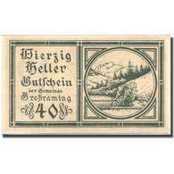 Billet, Autriche, Grossraming, 40 Heller, Paysage, SPL, Mehl:FS 296 - Austria