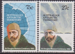AAT Australian Antartic Territory 1982 Birth Cent Sir Douglas Mawson Explorer SG53/4  MNH - Australian Antarctic Territory (AAT)