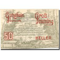 Billet, Autriche, Grossraming, 50 Heller, Forêt, 1920, SPL Mehl:FS 296I - Austria