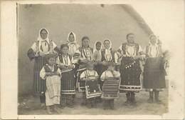 Pays Div -ref T642- Guerre 1914-18 - Macedoine -  Costumes De Macedoine  -carte Photo - Photo Postcard - - Macédoine