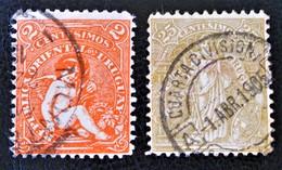 EMISSIONS 1904/05 - OBLITERES - YT 162 + 166 - Uruguay