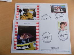 FDC (2) MONACO 2014 : Ayrton Senna (timbres De 0.83 Euro) - FDC