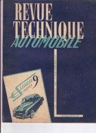 Revue Technique Automobile N° Réédité - SIMCA 9 ARONDE. - Auto/Motor