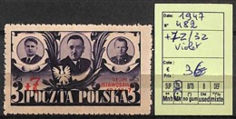 D - [824061]TB//*/Mh-Pologne 1947 - N° 482, Violet - Neufs