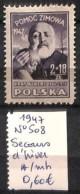 D - [824066]TB//*/Mh-Pologne 1947 - N° 508, Secours D'hiver, Célébrités - Neufs