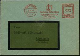 KAMENZ (SACHS)/ DN/ Deutscher Naturstein/ Hossenfelder & Co 1935 (25.10.) AFS = Steinquader , Klar Gest. Inl.-Bf. (Dü.E- - Geologie