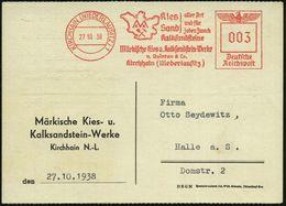 KIRCHHAIN (NIEDERLAUSITZ)1/ Kies/ Sand/ Aller Art../ Kalksandsteine/ Märk.Kies-u.Kalksandstein-Werke / V.Quintus 1938 (2 - Geologie