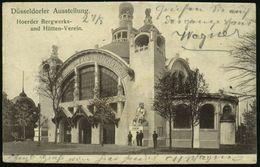 DÜSSELDORF/ AUSSTELLUNG 1902 (26.8.) SSt Auf Monochromer Foto-Ausst.-Ak.: Hoerder Bergwerks- U. Hütten-Verein (Jugendsti - Geologie