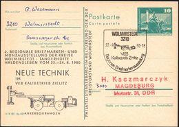 3210 WOLMIRSTEDT/ VEB/ KalibetriebZielitz.. 1980 (22.8.) SSt = Kali-Ankerbohrwagen Auf Amtl. P 10 Pf. Neptunbrunnen, Grü - Géologie