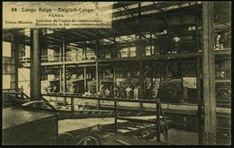 BELGISCH KONGO 1921 30 C. BiP Palme, Braun: PANDA/ Union Minière Intérieur De L'usine De Concentration.. (zweisprachig)  - Geologie