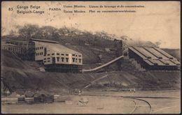 BELGISCH-KONGO 1929 15 C. BiP Palme, Blaugrün: PANDA/Union Minière/Usines De Broyage Et De Concentration.. = Zerkleineru - Géologie