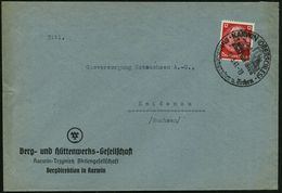 KARWIN (OBERSCHLES)/ ..Steinkohlengruben U.Zechen 1941 (15.3.) Seltener HWSt = Bergwerks- U. Hütten-Anlagen , Klar Gest. - Géologie