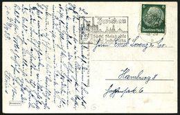 """ZWICKAU (SACHS) 2/ A/ Sächs.Steinkohle/ Sächs.Zechenkoks 1938 (9.9.) MWSt = Orts- U. Gruben-Silhouette (u. Monogr. """"SSS"""" - Geologie"""