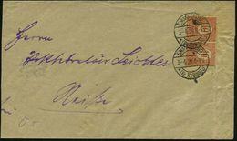 OBERSCHLESIEN 1920 (3.4.) 1K-Brücke:  E M M A G R U B E / *(Kr. RYBNIK)/b = Begbau-Hauspostamt!,  2x Auf Paar OS. 10 Pf. - Géologie