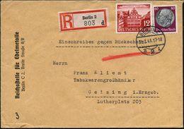 BERLIN C/ E2i 1941 (31.3.) 1K-Brücke Auf Dienst-Bf: Reichsstelle Für Edelmetalle (war Verwickelt In Die Ausplünderung Vo - Geologie
